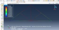 تحلیل اجزاء محدود خرپای دو بعدی با نرم افزار آباکوس